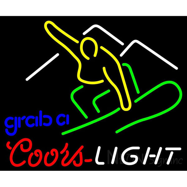 Coors Light Snowboard Neon Beer Sign