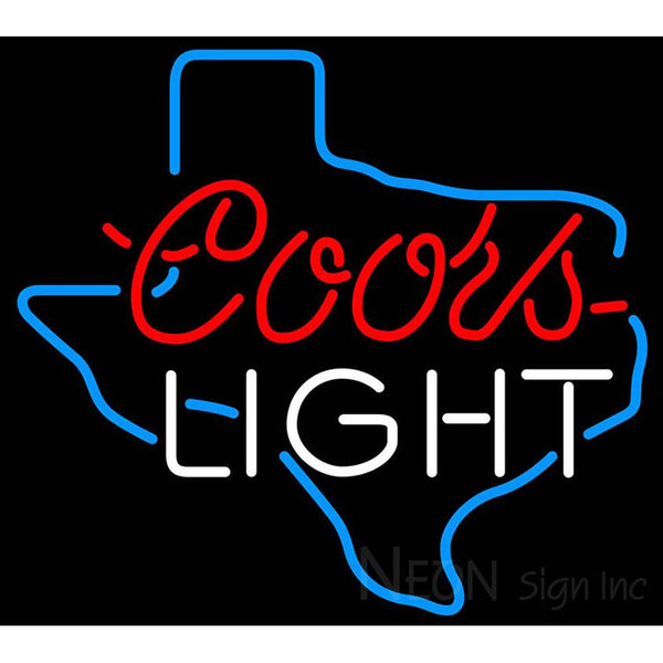 Coors Light Texas Neon Beer Sign