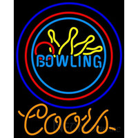 Coors Neon Bowling Neon Yellow Blue Sign 9 0018