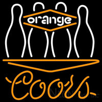 Coors Neon Bowling Orange Neon Sign 9 0026 24x24