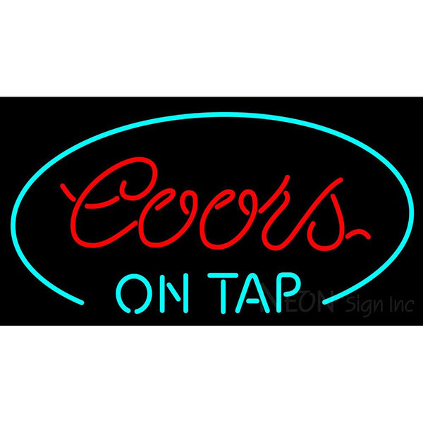 Coors On Tap Oval Neon Beer Sign