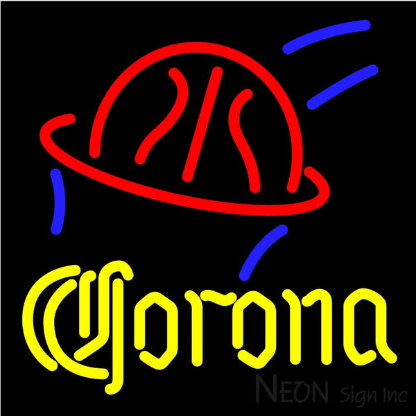 Corona Basketball Neon Beer Sign 16x16