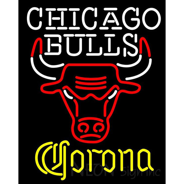 Corona Chicago Bulls NBA Neon Sign