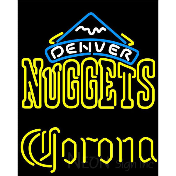 Corona Denver Nuggets NBA Neon Sign