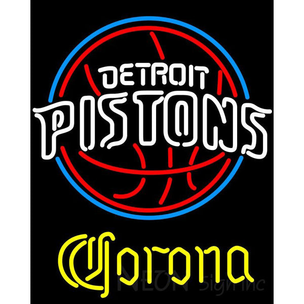 Corona Detroit Pistons NBA Neon Sign