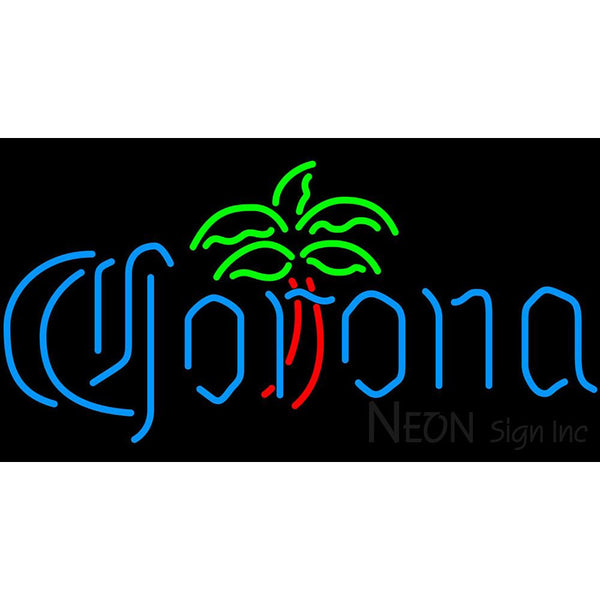 Corona Dominator Palm Tree Neon Beer Sign