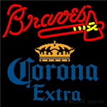 Corona Extra Atlanta Braves MLB Neon Sign 1 16x16
