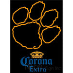 Corona Extra Clemson UNIVERSITY Tiger Print Neon Sign 4 0009