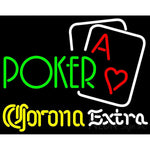 Corona Extra Green Poker Neon Sign