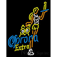Corona Extra Hooters Girls With Bottle Neon Beer Sign