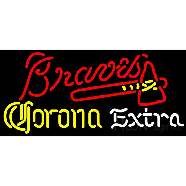 Corona Extra Light Atlanta Braves MLB Neon Sign 3 0004