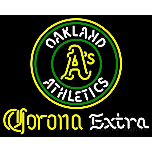 Corona Extra Neon Oakland As MLB Neon Sign 3 0007