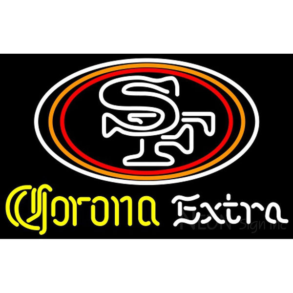 Corona Extra Neon San Francisco 49ers NFL Neon Sign 1 0012