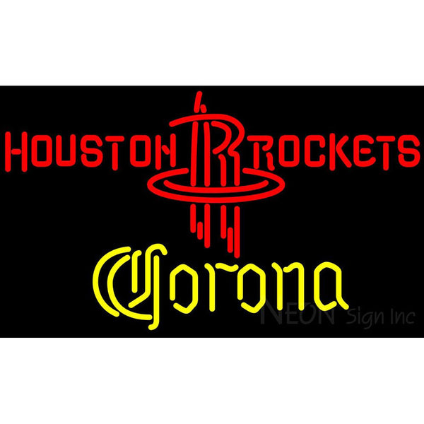Corona Houston Rockets NBA Neon Sign