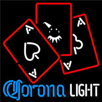 Corona Light Ace And Poker Neon Sign