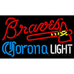 Corona Light Atlanta Braves MLB Neon Sign