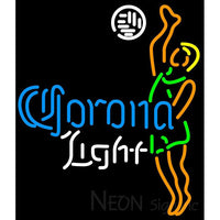 Corona Light Ball Volleyball Boy Neon Beer Sign