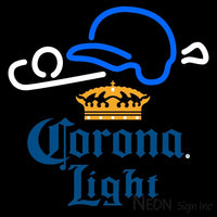 Corona Light Baseball Neon Sign 1 16x16