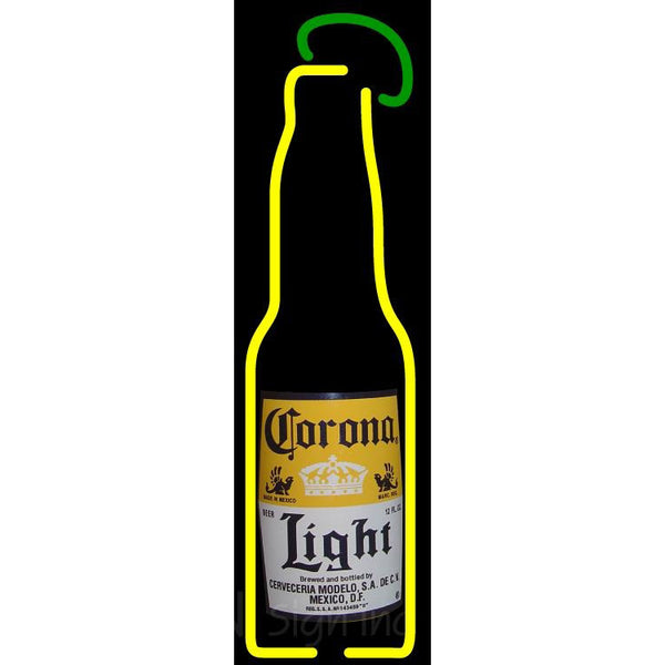 Corona Light Bottle With Lime Neon Beer Sign