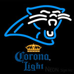 Corona Light Carolina Panthers NFL Neon Sign 1 0010 16x16