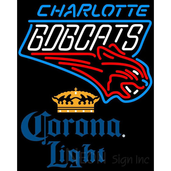 Corona Light Charlotte Bobcats NBA Neon Sign 2 0006