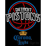 Corona Light Detroit Pistons NBA Neon Sign 2 0006