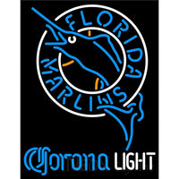 Corona Light Florida Marlins MLB Neon Sign