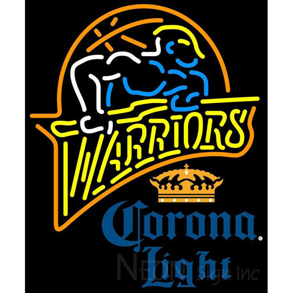 Corona Light Golden St Warriors NBA Neon Sign 2 0012