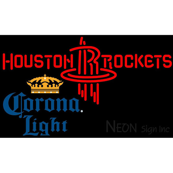 Corona Light Houston Rockets NBA Neon Sign 2 0006