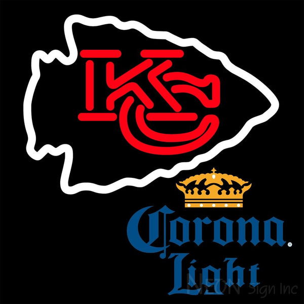Corona Light Kansas City Chiefs NFL Neon Sign 1 0010 16x16
