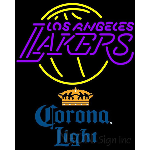 Corona Light Los Angeles Lakers NBA Neon Sign 2 0006