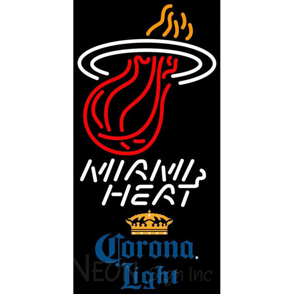 Corona Light Miami Heat NBA Neon Sign 2 0006