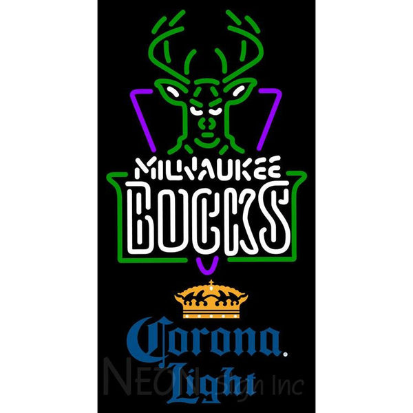 Corona Light Milwaukee Bucks NBA Neon Sign 2 0006