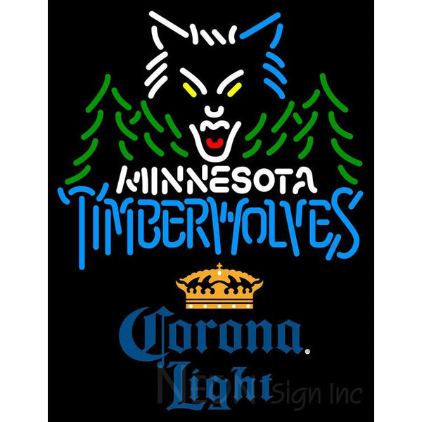 Corona Light Minnesota Timber Wolves NBA Neon Sign 2 0006