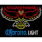 Corona Light Neon Logo Atlanta Hawks NBA Neon Sign 2 0007
