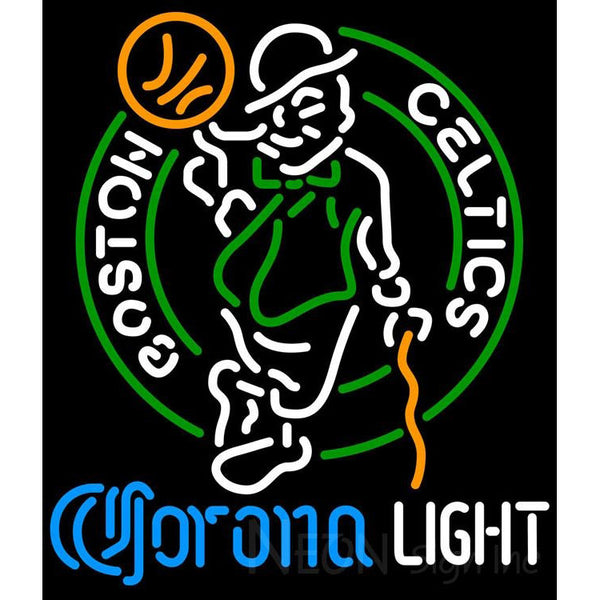 Corona Light Neon Logo Boston Celtics NBA Neon Sign 2 0007