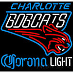 Corona Light Neon Logo Charlotte Bobcats NBA Neon Sign 2 0007