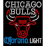 Corona Light Neon Logo Chicago Bulls NBA Neon Sign 2 0007