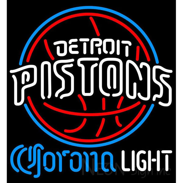 Corona Light Neon Logo Detroit Pistons NBA Neon Sign 2 0007