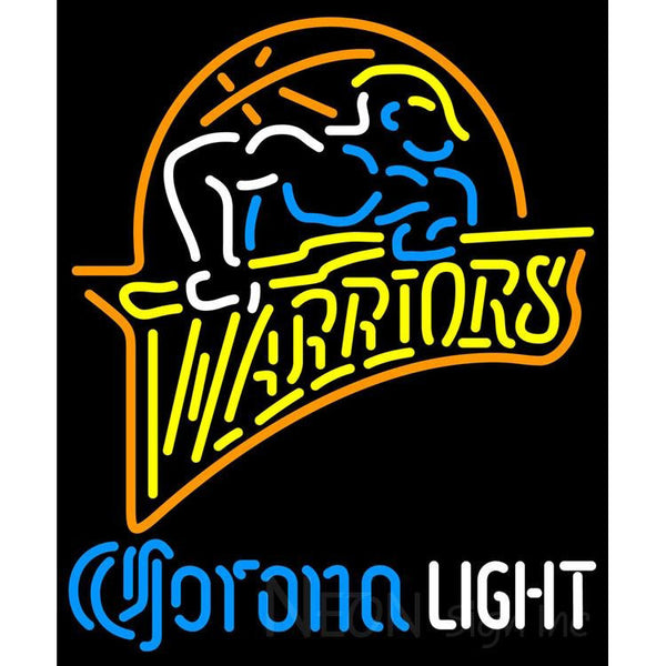 Corona Light Neon Logo Golden St Warriors NBA Neon Sign 2 0013