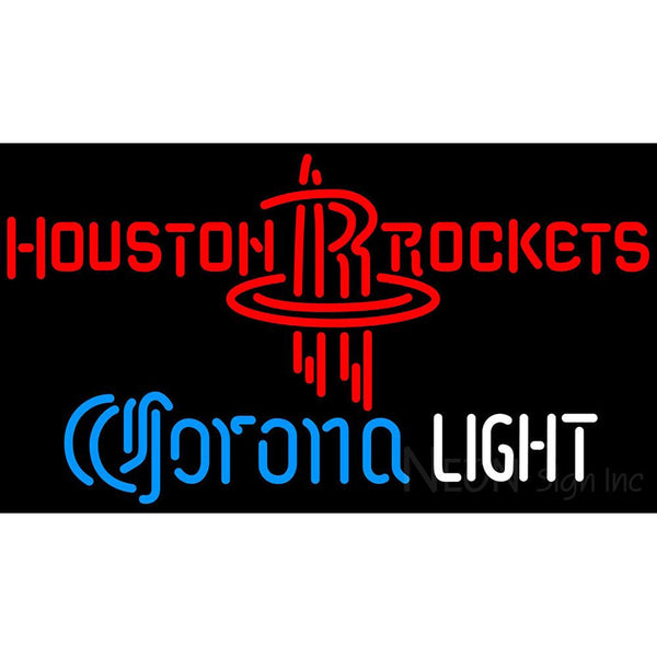 Corona Light Neon Logo Houston Rockets NBA Neon Sign 2 0007