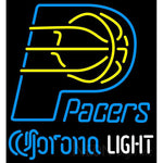 Corona Light Neon Logo Indiana Pacers NBA Neon Sign 2 0008