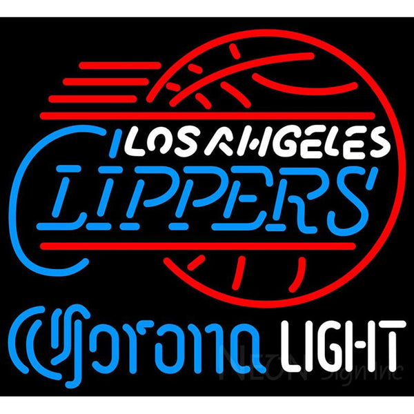 Corona Light Neon Logo Los Angeles Clippers NBA Neon Sign 2 0007