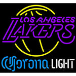 Corona Light Neon Logo Los Angeles Lakers NBA Neon Sign 2 0007