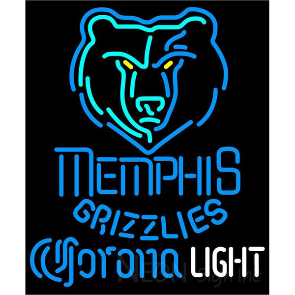 Corona Light Neon Logo Memphis Grizzlies NBA Neon Sign 2 0007