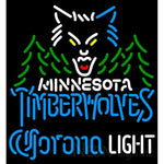Corona Light Neon Logo Minnesota Timber Wolves NBA Neon Sign 2 0007