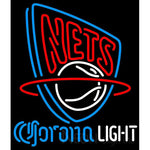 Corona Light Neon Logo New Jersey Nets NBA Neon Sign 2 0006