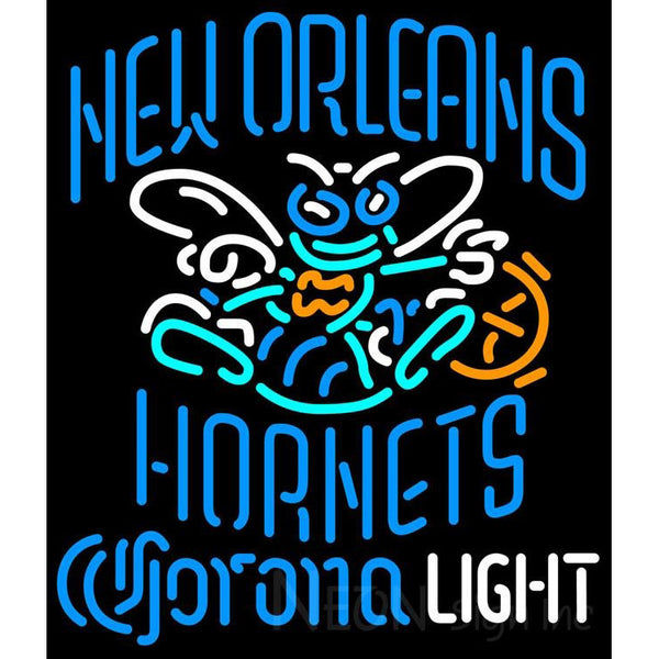 Corona Light Neon Logo New Orleans Hornets NBA Neon Sign 2 0006