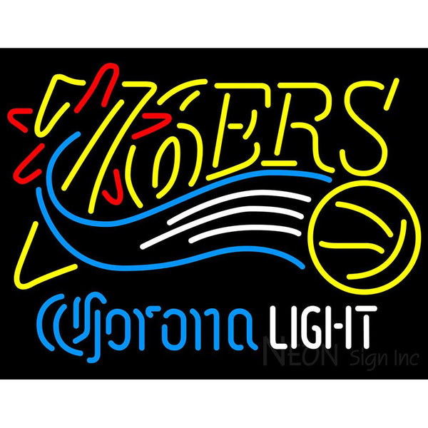 Corona Light Neon Logo Philadelphia 76ers NBA Neon Sign 2 0006
