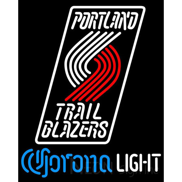 Corona Light Neon Logo Portland Trail Blazers NBA Neon Sign 2 0006